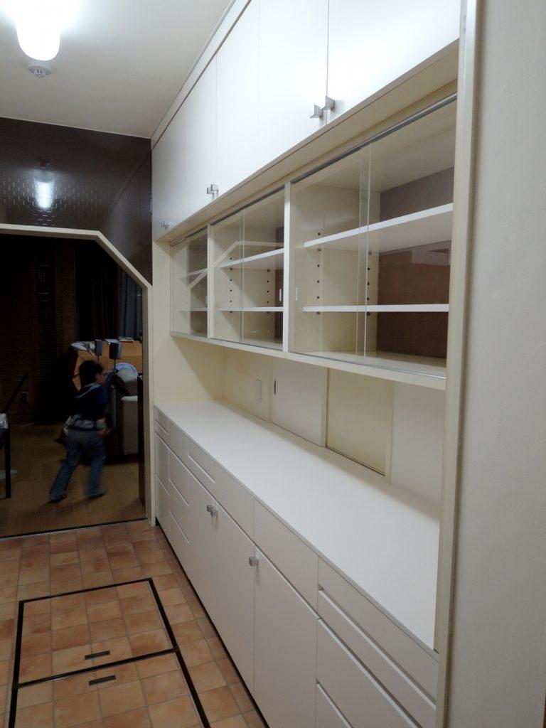 I 型キッチンと洗面室のリフォーム