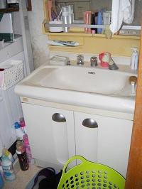 以前の洗面台